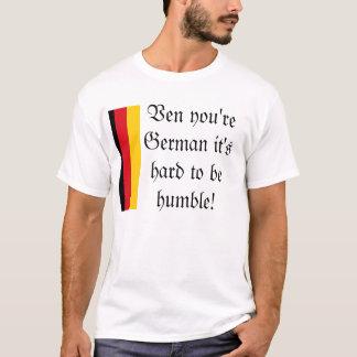 Camiseta Humildade alemão