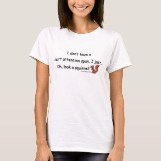 Camiseta Humor curto do esquilo da capacidade de