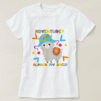 Camiseta Humor da alpaca - alpaca da aventura minhas bolsas