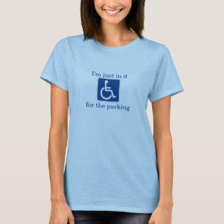 Camiseta Humor da inabilidade - apenas nele para o
