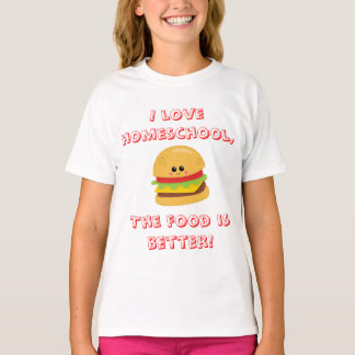 Camiseta Humor de Homeschool do cheeseburger
