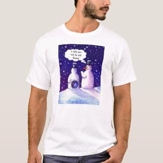 Camiseta Humor dos bonecos de neve em seu melhor