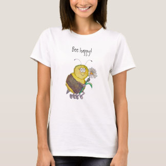 Camiseta Humor lunático engraçado feliz do t-shirt da