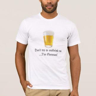 Camiseta Humor-Oktoberfest alemão do bebendo da cerveja