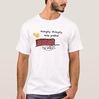 Camiseta Humpty Dumpty foi empurrado