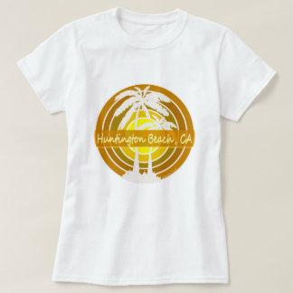 Camiseta Huntington Beach, CA com palmeiras