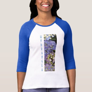 Camiseta Hydrangeas Azul-Brancos bonito