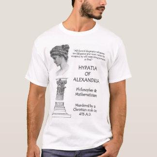 Camiseta Hypatia da cotação de Alexandria sobre o dogma