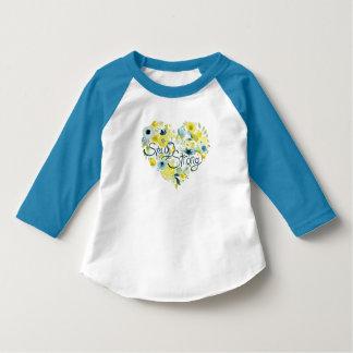 Camiseta I floral sentido
