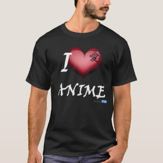 Camiseta I LOVE ANIME