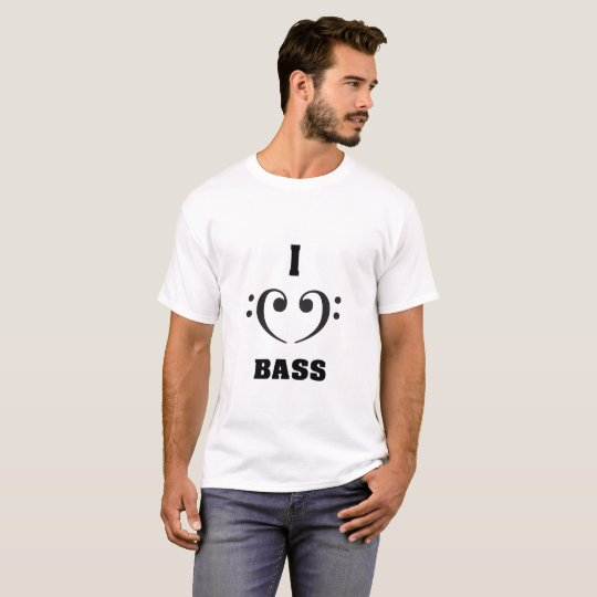 CAMISETA I LOVE BASS
