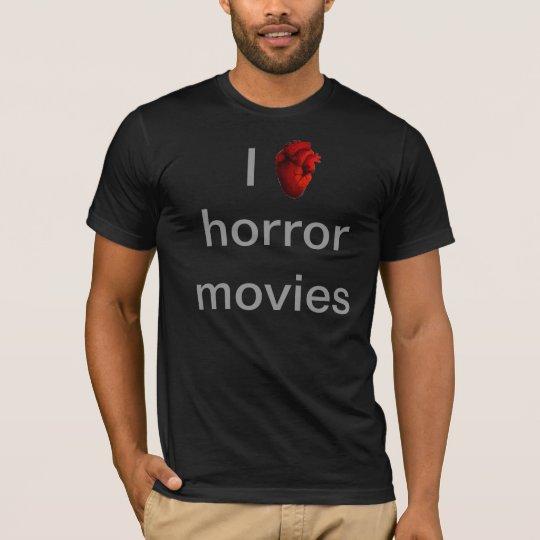 Camiseta I love horror movies