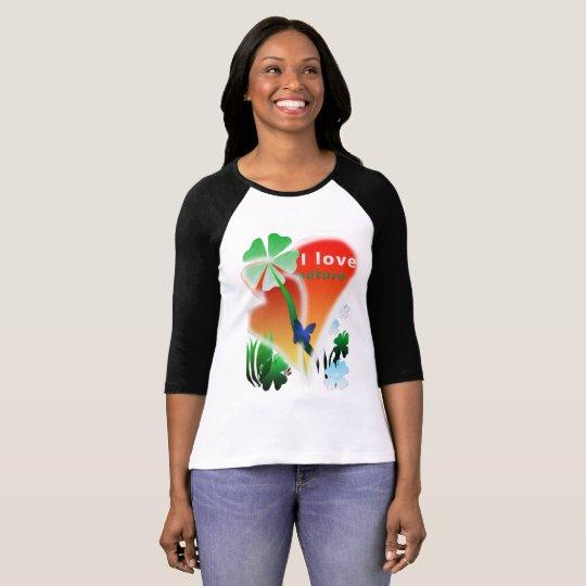 Camiseta I love natureza
