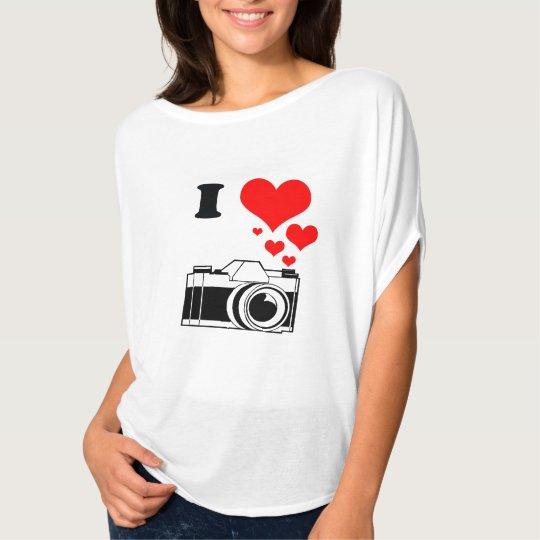 CAMISETA I LOVE PHOTOGRAPHY