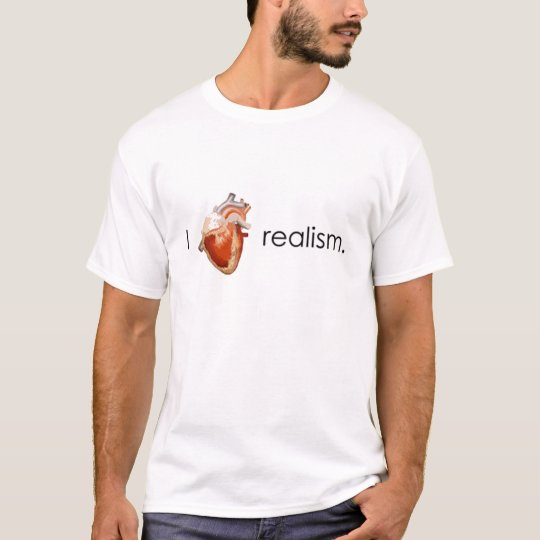 Camiseta I Love realism.