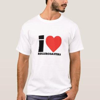 Camiseta I Love Roller Coaster