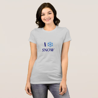 Camiseta I Love Snow