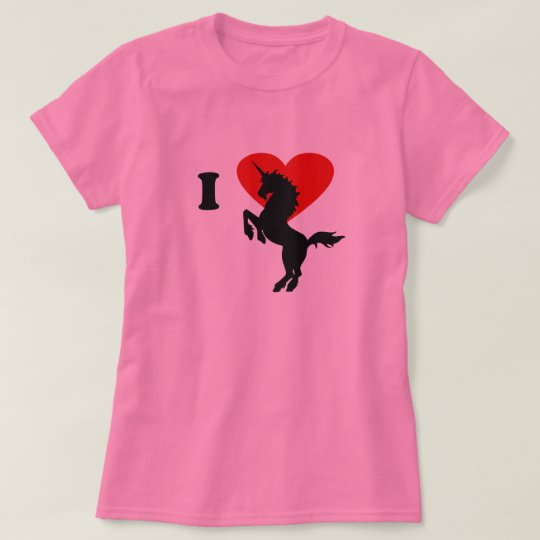 Camiseta I love unicorn