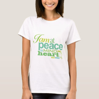 """Camiseta <i>Word® diário</i> T-shirt da """"paz"""""""