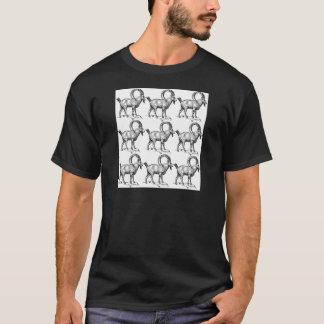 Camiseta íbex do chifre da onda