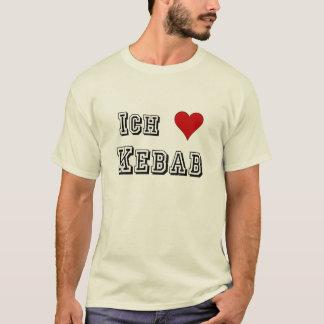 Camiseta Ich Liebe Kebab eu amo o alemão de Deutsche do