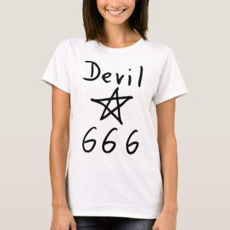 Camiseta ícone do diabo 666