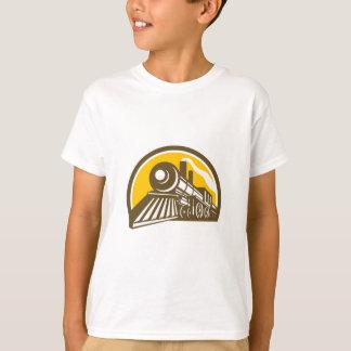 Camiseta Ícone do trem da locomotiva de vapor