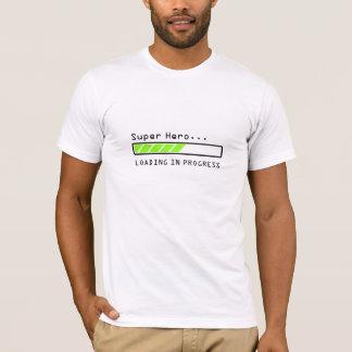 Camiseta Ícone em andamento de carregamento do bar do