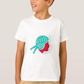 Camiseta Ícone peruano do lado do chapéu da menina