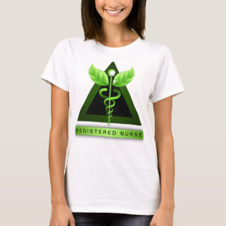Camiseta Ícone verde da enfermeira diplomada do RN do