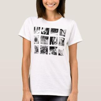 Camiseta ícones pretos/brancos