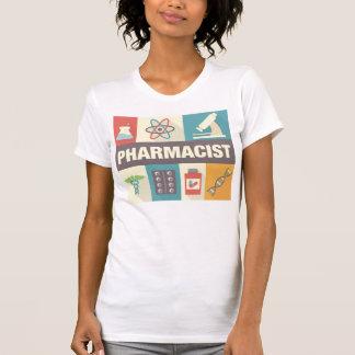 Camiseta Icónico profissional do farmacêutico projetado