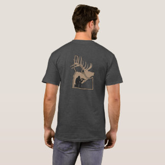 Camiseta Idaho-Alces com silhueta do caçador