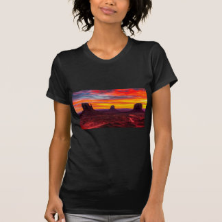Camiseta Ideia cénico do por do sol sobre o mar