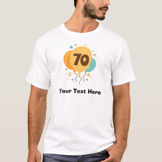 Camiseta ideia do presente da festa de aniversário do 70
