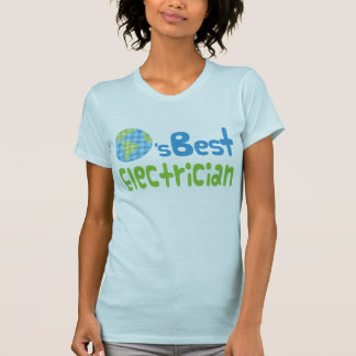 Camiseta Ideia do presente para o eletricista (mundos