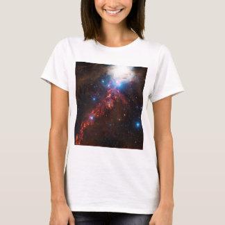 Camiseta Ideia do VÉRTICE de uma formação de estrela na