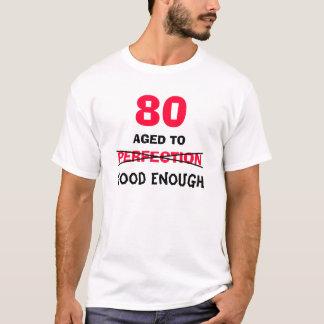 Camiseta ideias do presente de aniversário do 80 para a
