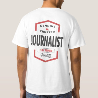 Camiseta Ideias do presente do logotipo do journalista