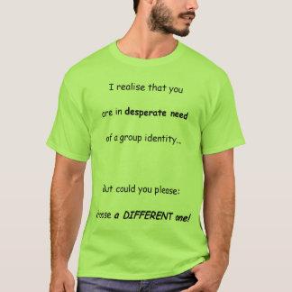 Camiseta Identificação de grupo