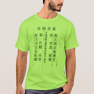 Camiseta Ideogramas Matrix Shao Lin