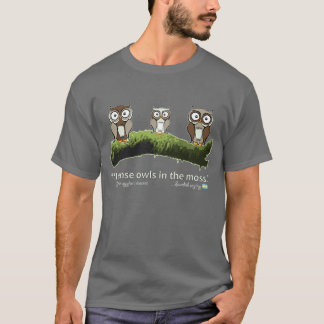 Camiseta Idioma sueco: Corujas no musgo