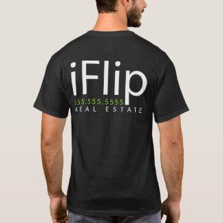 Camiseta iFlip. Eu lanço bens imobiliários. Promo do