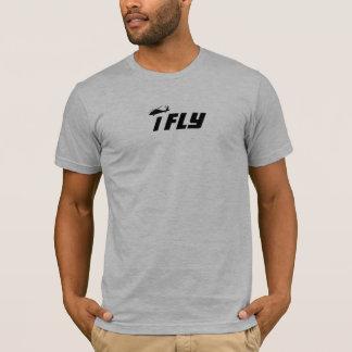 Camiseta iFly Tshirt preto militar do falcão do helicóptero