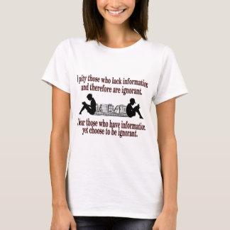 Camiseta ignorância escolhida