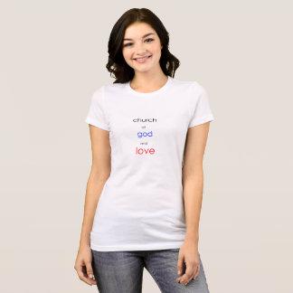 Camiseta igreja do design do deus e do tshirt do amor