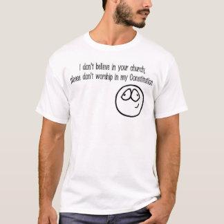 Camiseta igreja e constituição