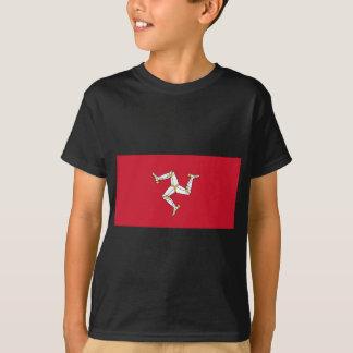 Camiseta Ilha da bandeira do homem - bandeira Manx -