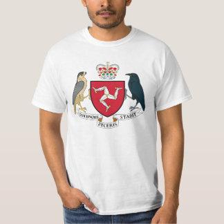 Camiseta Ilha da brasão do homem - emblema Manx