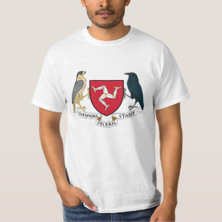 Camiseta Ilha da brasão republicana do homem - emblema Manx